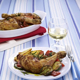 Chicken Drumsticks with Baked Potato Wedges.