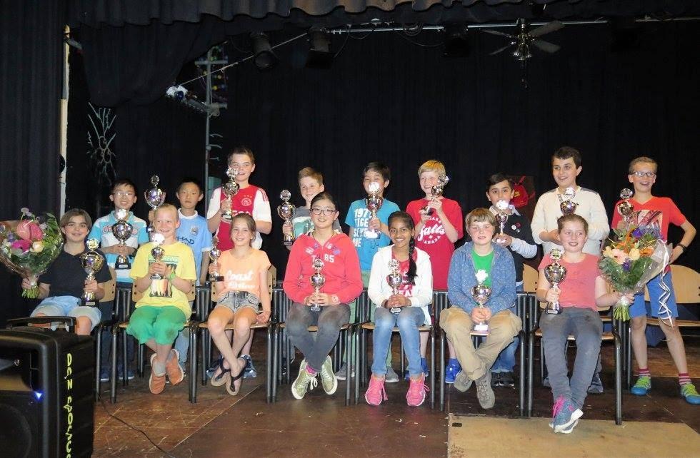 Groepsfoto winnaars