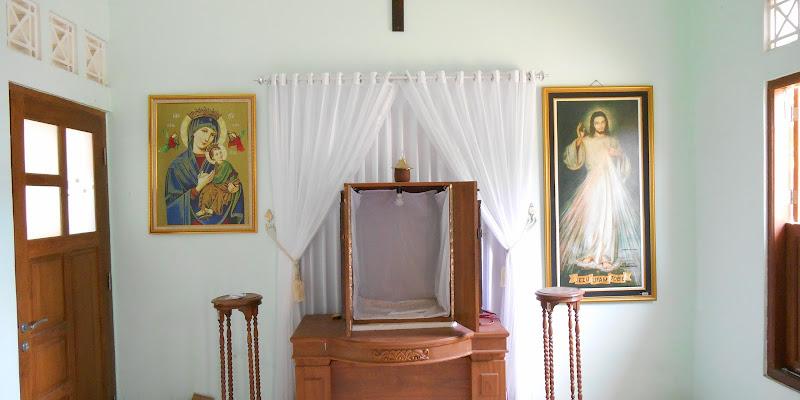 Ruang doa adorasi yang berada di Pastoran Gereja Katolik Santo Paulus Pringgolayan