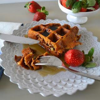 Gluten-free Pumpkin, Apple, & Pecan Pie Waffles