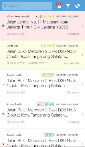 aDelivery Tracking