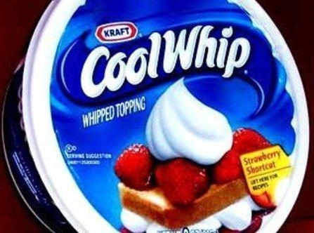 2  Take Cool whip and the 1 package of pudding mix powder and fold...