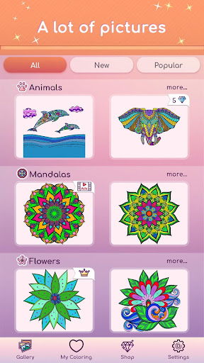 Premium Coloring Book Color By Number Coloring Mod Apk