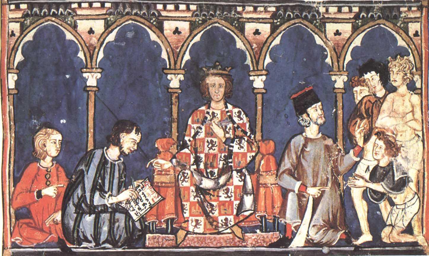 /Users/lambertn/Desktop/X/Alfonso X as a judge, from his Libro de los dados, completed ca. 1280.jpg