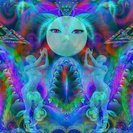 Spiritual dimension  by Cassy 67 - Illustration Abstract & Patterns ( digital, love, modern art, harmony, art, trippy, abstract art, psyart, abstract, artwork, fractals, digital art, psychedelic, modern, light, fractal, energy )