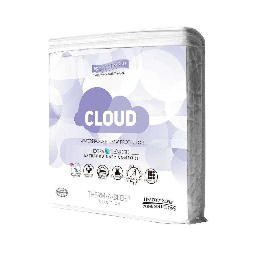 寢之堡Cloud調溫天絲 TENCEL全包式枕頭套(通風片設計)