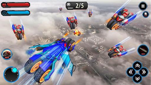 Flying Robot Police ATV Quad Bike City Wars Battle apktram screenshots 2