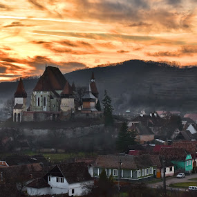The fortified church in Biertan by Sorin Lazar Photography - City,  Street & Park  Vistas ( old, hdr, church, architecture, places, travel, ancient, nature, sunset, outdoor, buildings, pray, medieval, outside )