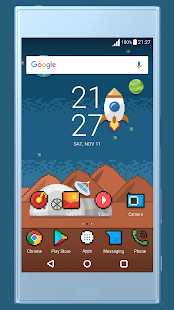 Space Pixel ND Xperia Theme - náhled