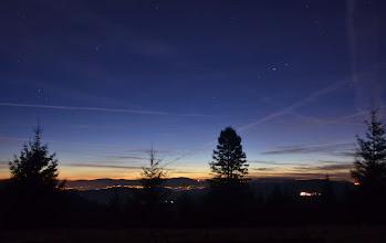 Photo: W końcu robi się ciemno, liczę na kilka fajnych nocnych zdjęć bo niebo jest czyste...
