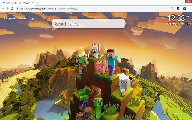 Minecraftの壁紙の新しいタブのテーマ