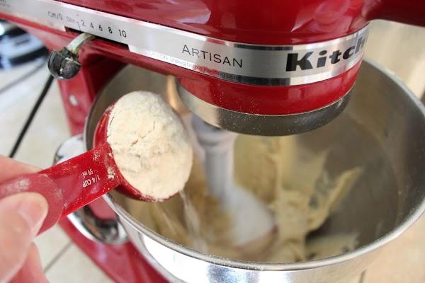 Stir in flour gradually.