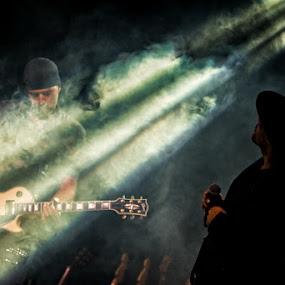 U2 tributeband by Frans Scherpenisse - People Musicians & Entertainers ( music, u2, gitar, tribute, light, stage )