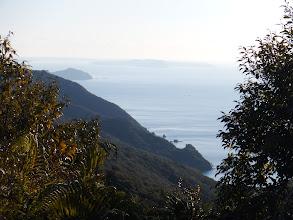 休憩所からは海が見える