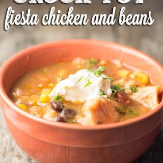 Crock Pot Fiesta Chicken and Beans.
