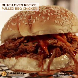 Dutch Oven Pulled BBQ Chicken Sandwiches
