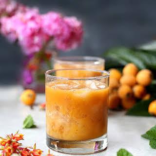 Loquat Orange Cocktail.