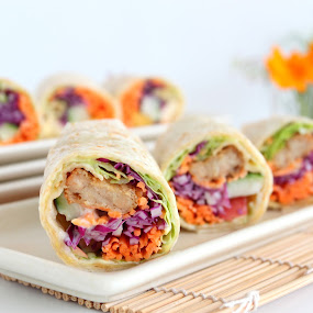 Vegan Roll by ChenLin Kng - Food & Drink Plated Food ( vegan, roll, food, loving hut, plated food )