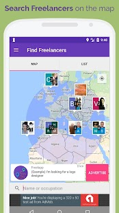 Freelapp - Find Freelance Jobs on Real Time Maps - náhled