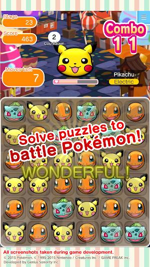 5 Pokémon Shuffle Mobile App screenshot
