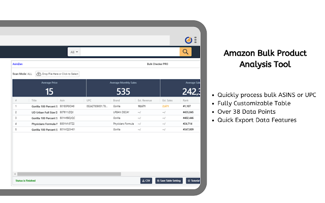 Bulk Checker PRO Amazon Product Research Tool