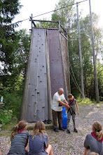 Photo: Og så til udendørsklatring på en 10 m høj væg med tre sværhedsgrader