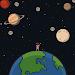 Walk to moon icon