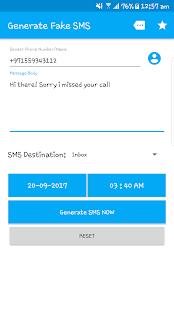 Fake SMS - náhled