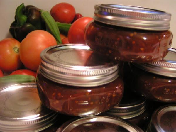 Canned Spicey Tomato Chili Sauce Recipe