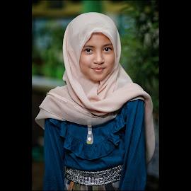 Kanza by Mardi Tri Junaedi - Babies & Children Child Portraits ( #beautifulkids, #youngmodel, #smile, #lovelykids, #hijab,  )