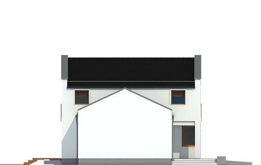 Kasjopea z garażem 1-st. bliźniak A-BL1 - Elewacja lewa