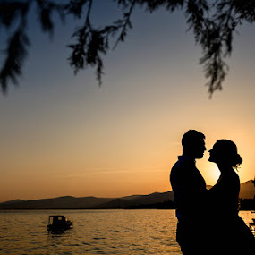 by Zeljko Marcina - Wedding Bride & Groom ( love, sunset, wedding, croatia, split )