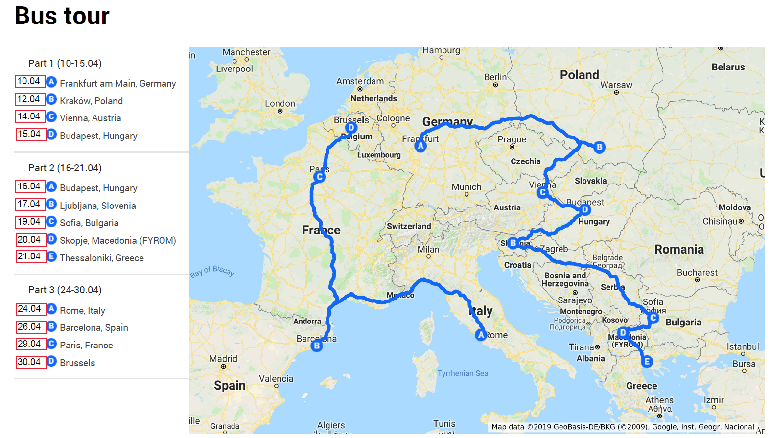 Map Of Spain France And Italy With Cities.Jef Europe Join The I Choose Europe Bus Tour 13 Cities Get 75