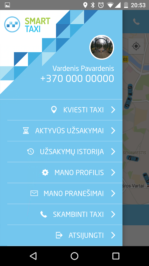 Smart Taxi Lithuania- screenshot