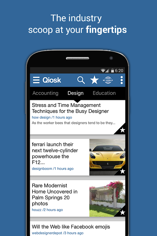 Qiosk News for Professionals- screenshot