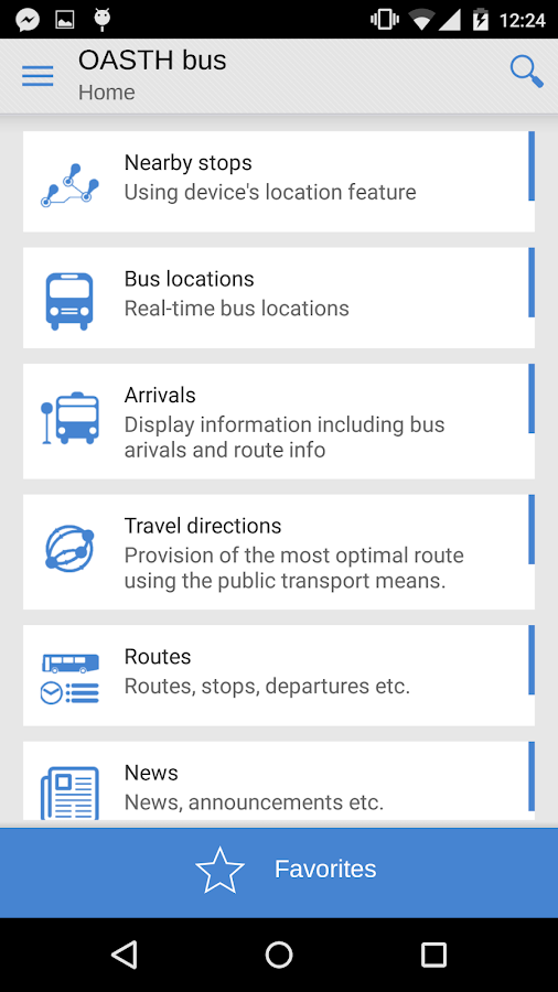 OASTH Bus- screenshot