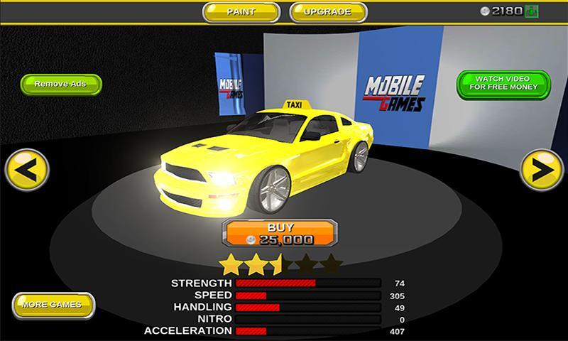 android Modern taxi racing 3D Screenshot 0