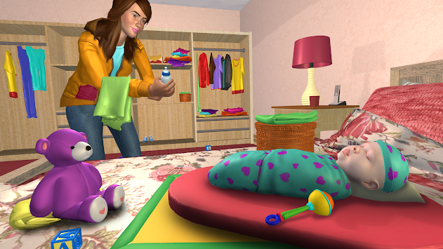 Virtual Sister Happy Mom Newborn Baby Family Game