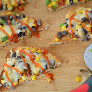 Quick and Easy Corn and Bean toast