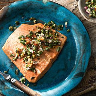 Fish with Pecan Caper Relish Recipe