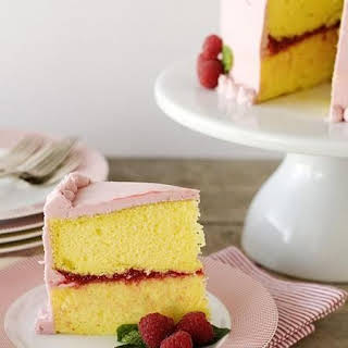 Lemon-Raspberry Celebration Cake.