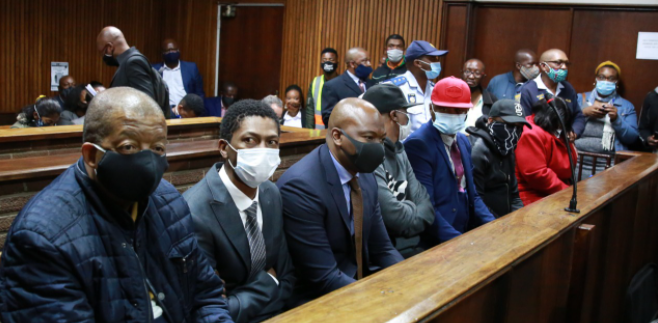The seven implicated in the Free State asbestos case appeared in the Free State High Court on Friday.