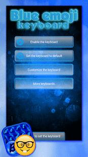Blue Emoji Keyboard Themes - náhled