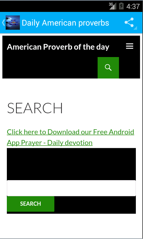 Where can you download a prayer-of-the-day app?