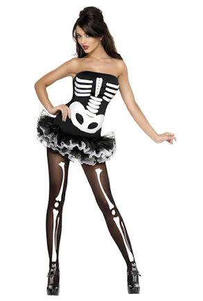Dräkt, Skelettklänning tyll