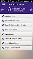 Screenshot of Affinity Plus Mobile Banking