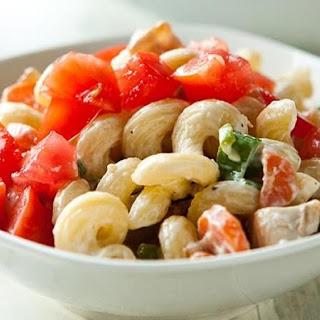 Chicken-Bacon-Ranch Pasta Salad.