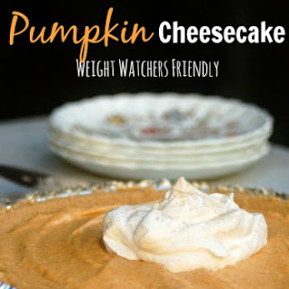 Easy Low Calorie No Bake Pumpkin Cheesecake.