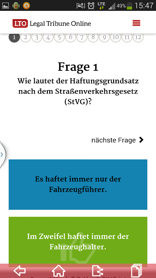 LTO.de - Legal Tribune Online- screenshot