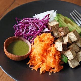 Bento Salad With Matcha Dressing